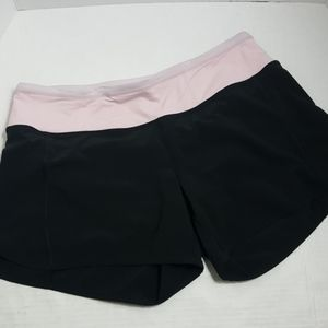 Lululemon Run Speed short black pink vented